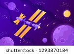 satellite science stations in... | Shutterstock .eps vector #1293870184