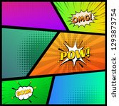 comic book page template with...   Shutterstock .eps vector #1293873754