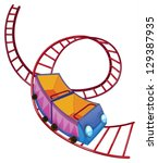 illustration of a roller... | Shutterstock .eps vector #129387935