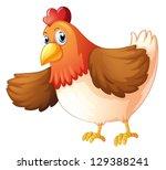 Illustartion Of A Big Fat Hen...