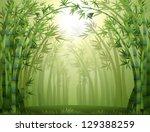illustration of the bamboo... | Shutterstock .eps vector #129388259