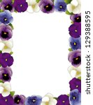 Pansy Flower Picture Frame....