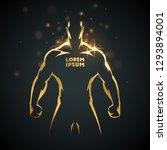 athlete man gold silhouette | Shutterstock .eps vector #1293894001