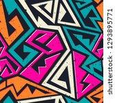 graffiti geometric seamless...   Shutterstock . vector #1293895771