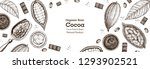 cocoa sketch illustration.... | Shutterstock .eps vector #1293902521