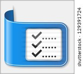 abstract icon of a check list ...