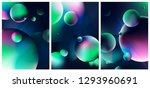 fantasy scene with planets and... | Shutterstock .eps vector #1293960691