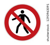 no trespass sign   crossing... | Shutterstock .eps vector #1293963091
