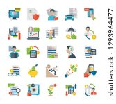 budget related icons set | Shutterstock .eps vector #1293964477