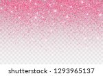pink glitter sparkle on a... | Shutterstock .eps vector #1293965137