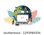 online search bar concept... | Shutterstock .eps vector #1293984334