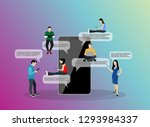 mobile application people... | Shutterstock .eps vector #1293984337