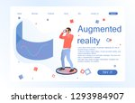 landing page template of... | Shutterstock .eps vector #1293984907