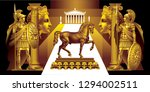fantasy based on the ancient... | Shutterstock .eps vector #1294002511