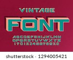 vintage handcrafted  3d  bold... | Shutterstock .eps vector #1294005421