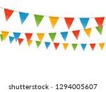 color flags garland... | Shutterstock .eps vector #1294005607
