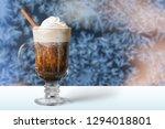 glass of irish coffee on... | Shutterstock . vector #1294018801