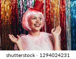 a female clown with colorful... | Shutterstock . vector #1294024231