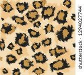 faux leopard skin pattern with... | Shutterstock .eps vector #1294027744