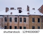 abandoned building  aerial view ... | Shutterstock . vector #1294030087