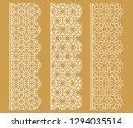 vector set of line borders with ...   Shutterstock .eps vector #1294035514