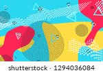 pop art color background.... | Shutterstock .eps vector #1294036084