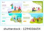 lovely day at park  spring... | Shutterstock .eps vector #1294036654