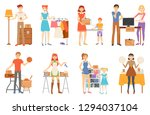 garage sale and second hand... | Shutterstock .eps vector #1294037104