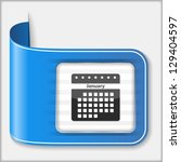 abstract icon of a calendar ...