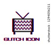 tv icon flat. simple pictogram  ...