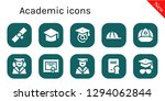 academic icon set. 10 filled... | Shutterstock .eps vector #1294062844