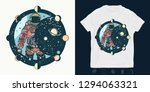 astronaut. print for t shirts... | Shutterstock .eps vector #1294063321