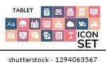 tablet icon set. 19 filled... | Shutterstock .eps vector #1294063567
