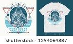 astronaut in lotus position.... | Shutterstock .eps vector #1294064887