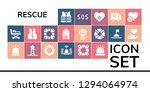 rescue icon set. 19 filled... | Shutterstock .eps vector #1294064974