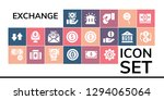 exchange icon set. 19 filled... | Shutterstock .eps vector #1294065064