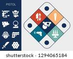 pistol icon set. 13 filled... | Shutterstock .eps vector #1294065184