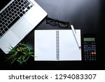 office leather desk table with... | Shutterstock . vector #1294083307