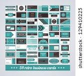 set of 54 different business...   Shutterstock .eps vector #129410225