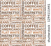 coffee types seamless text... | Shutterstock .eps vector #1294111441