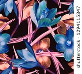 illustration of crocus flower...   Shutterstock . vector #1294115347
