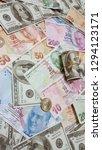 turkish lira and american... | Shutterstock . vector #1294123171