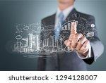 businessman and  analytics... | Shutterstock . vector #1294128007