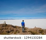 young male tourist at the... | Shutterstock . vector #1294133284