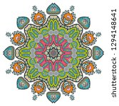 mandala flower decoration  hand ... | Shutterstock .eps vector #1294148641