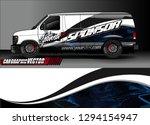 cargo van livery graphic vector.... | Shutterstock .eps vector #1294154947