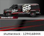 cargo van livery graphic vector.... | Shutterstock .eps vector #1294168444