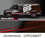 cargo van livery graphic vector.... | Shutterstock .eps vector #1294168657