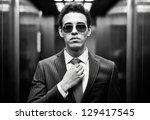 portrait of confident man in... | Shutterstock . vector #129417545