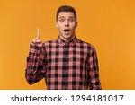 portrait of shocked guy very...   Shutterstock . vector #1294181017
